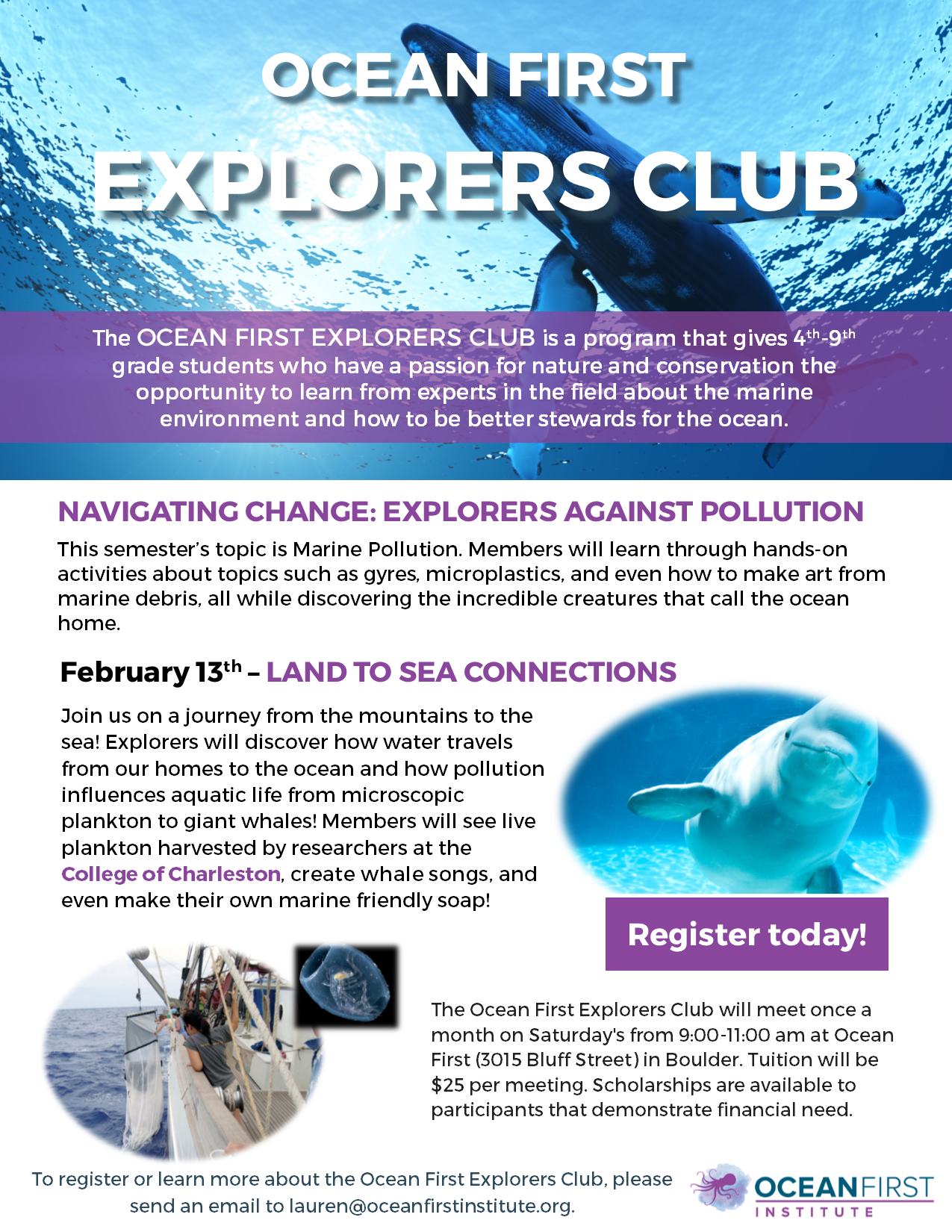 Ocean First Explorers Club Meeting
