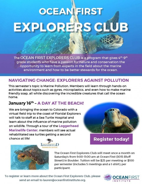 We are launching the Ocean First Explorers Club!